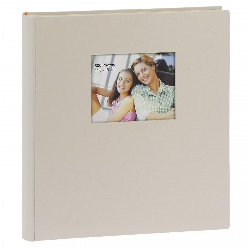 classique personnalisable série ''Square'' mémo 500 photos 11,5x15 - Beige - Pochettes couverture rigide