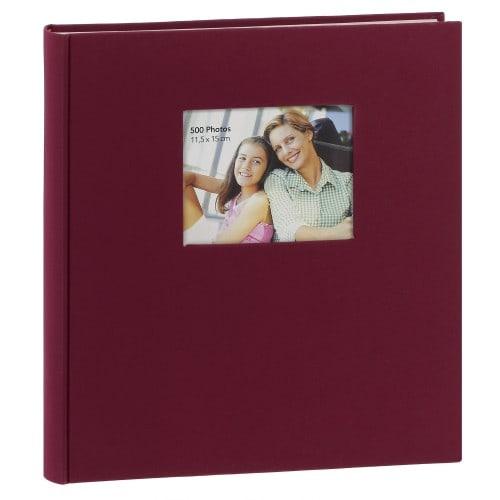 ERICA - Album photo pochettes avec mémo SQUARE - 100 pages blanches - 500 photos - Couverture Bordeaux 36,5x36cm + fenêtre
