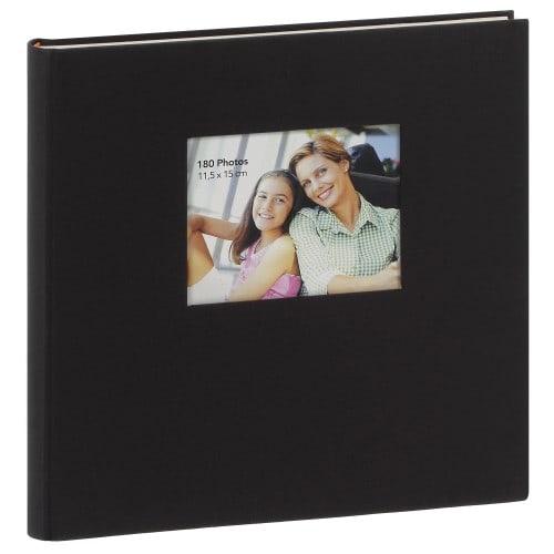 ERICA - Album photo adhésif SQUARE - 60 pages blanches - 300 photos - Couverture Noire 34x33cm + fenêtre
