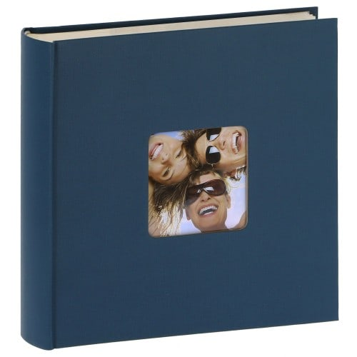 WALTHER DESIGN - Album photo pochettes avec mémo FUN - 100 pages blanches - 200 photos - Couverture Bleue 22x24cm + fenêtre