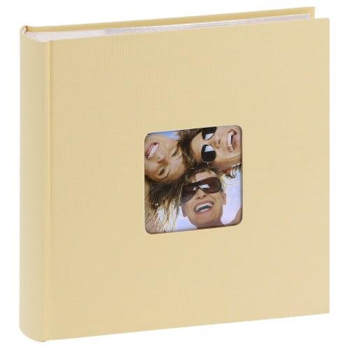 WALTHER DESIGN - Album photo pochettes avec mémo FUN - 100 pages blanches - 200 photos - Couverture Beige 22x24cm + fenêtre