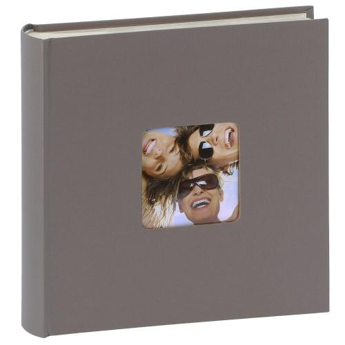 WALTHER DESIGN - Album photo pochettes avec mémo FUN - 100 pages blanches - 200 photos - Couverture Taupe 22x24cm + fenêtre