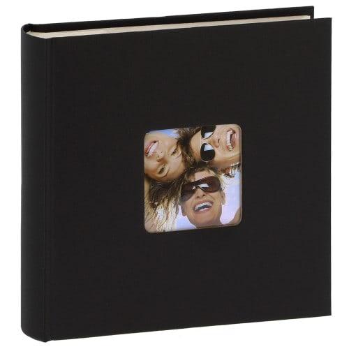 WALTHER DESIGN - Album photo pochettes avec mémo FUN - 100 pages blanches - 200 photos - Couverture Noire 22x24cm + fenêtre