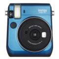 FUJI - Appareil photo instantané Instax Mini 70 - Format photo 62x46mm - Livré avec 2 piles lithium CR2 - Dim. (L)99,2x(H)113,7x(P)53.2mm - Bleu
