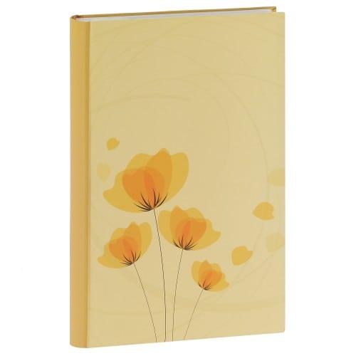 ERICA - Album photo pochettes avec mémo ELLYPSE 2 - 100 pages blanches - 300 photos - Couverture Jaune 22,5x37cm