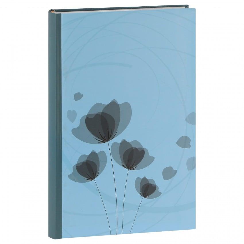 mémo fantaisie série ''Ellypse'' 300 photos 11,5x15cm - Bleu clair - Pochettes couverture rigide