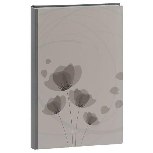 ERICA - Album photo pochettes avec mémo ELLYPSE 2 - 100 pages blanches - 300 photos - Couverture Grise 22,5x37cm