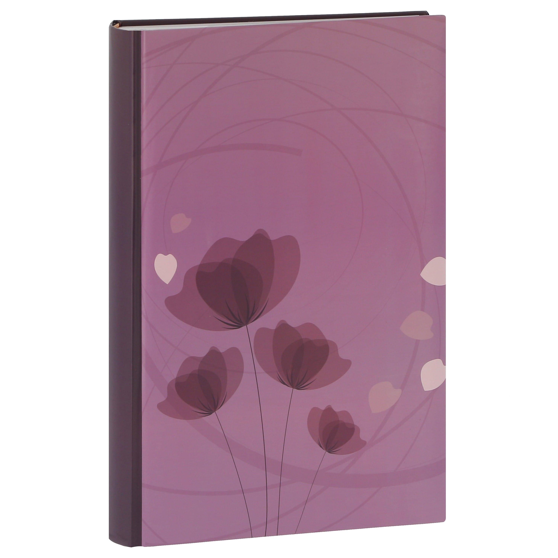 ERICA - Album photo pochettes avec mémo ELLYPSE 2 - 100 pages blanches - 300 photos - Couverture Violette 22,5x37cm