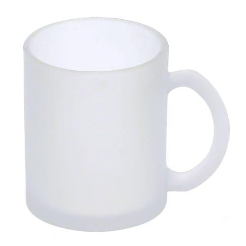 Mug verre dépoli TECHNOTAPE 330ml (11oz) - Certifié contact alimentaire - Diam. ext. 80mm/Haut. 95mm