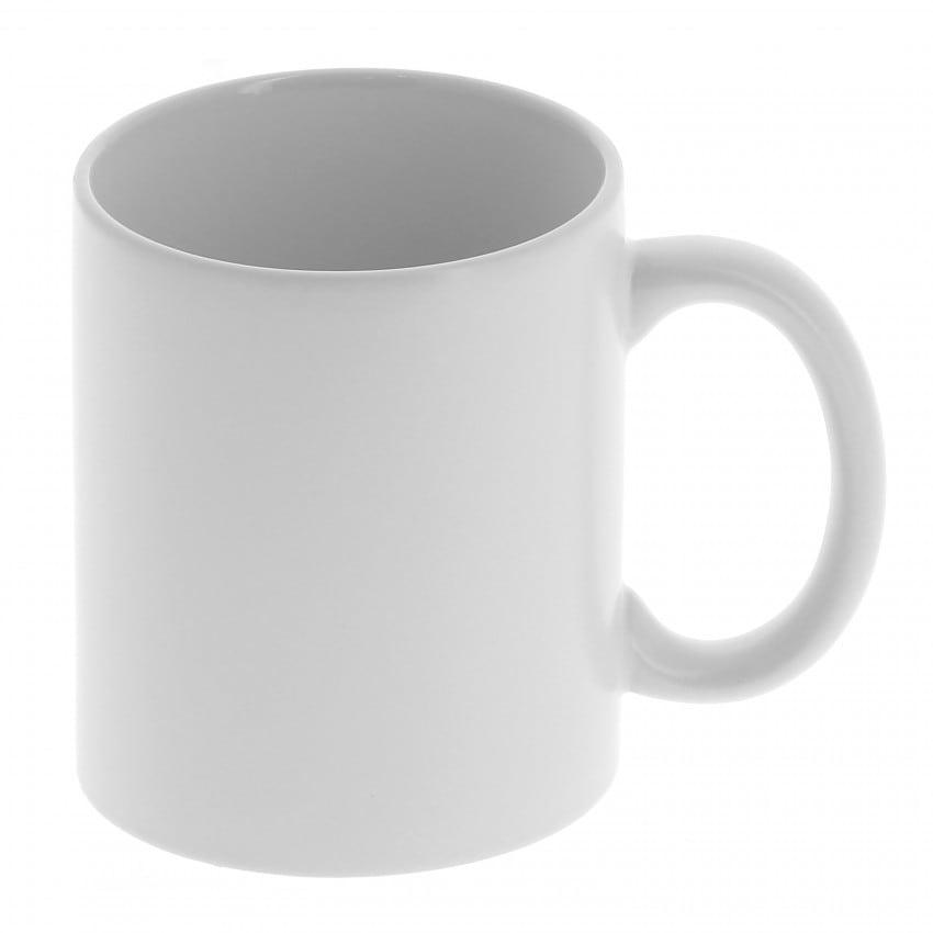 Mug céramique MB TECH 330ml (11oz) blanc mat - Adapté lave-vaisselle/micro-ondes - Certifié contact alimentaire - Diam. ext. 82m