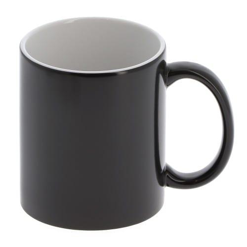 Mug céramique magique 330ml (11oz) Noir mat - Qualité AAA - Diamètre 82mm