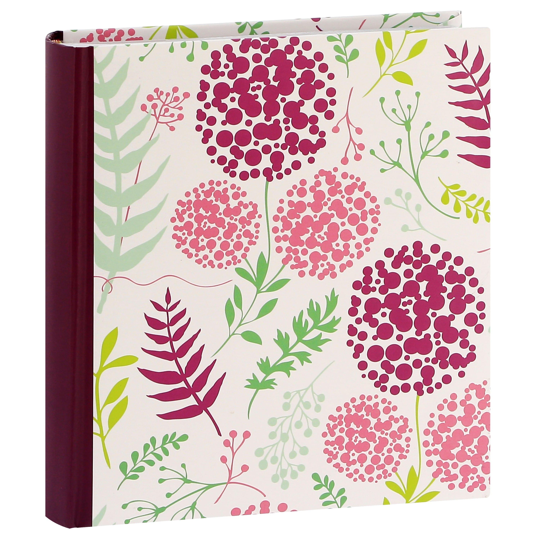 ERICA - Album photo pochettes avec mémo FLOWERS - 100 pages blanches - 200 photos - Couverture Violette 24x24,8cm