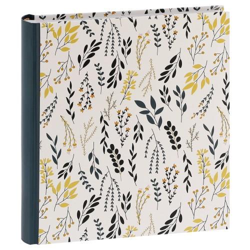 ERICA - Album photo pochettes avec mémo FLOWERS - 100 photos blanches - 200 photos - Couverture Noire 24x24,8cm