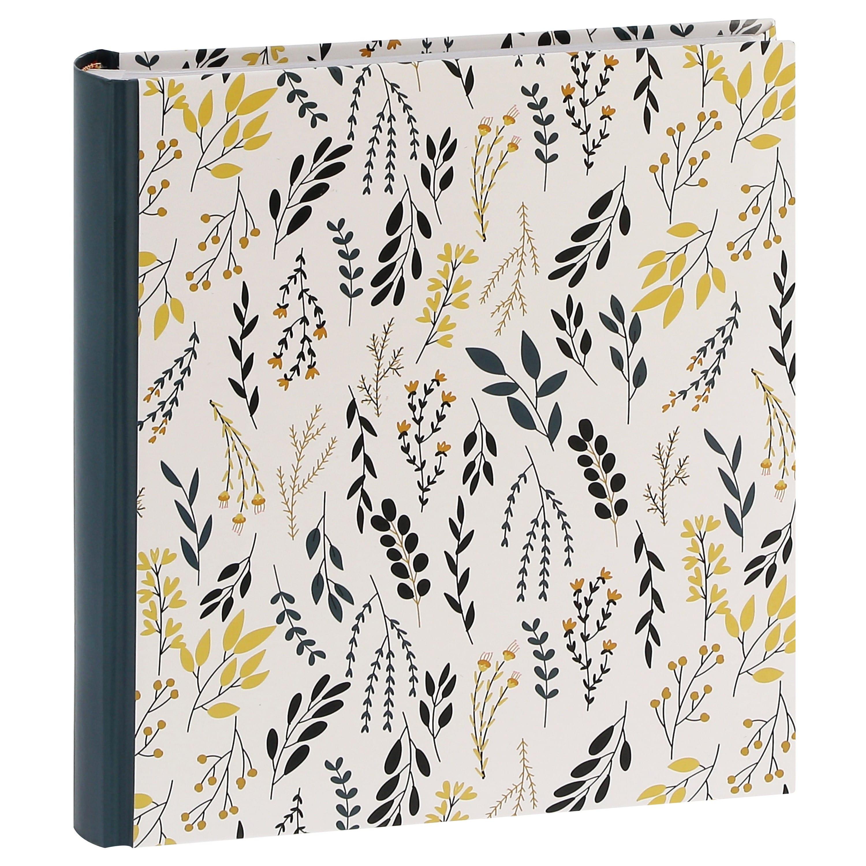 ERICA - Album photo pochettes avec mémo FLOWERS - 100 pages blanches - 200 photos - Couverture Noire 24x24,8cm