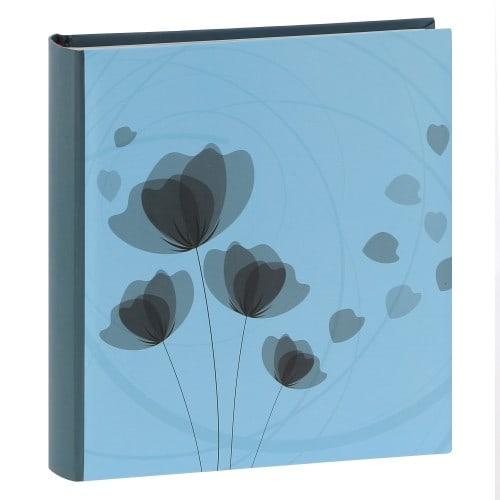 mémo fantaisie série ''Ellypse'' 200 photos 11,5x15cm - Bleu clair - Pochettes couverture rigide