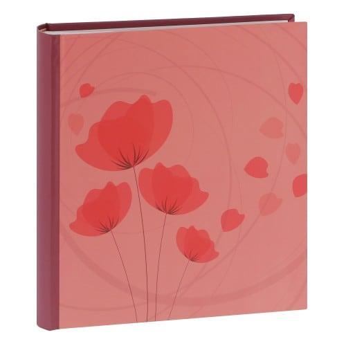 ERICA - Album photo pochettes avec mémo ELLYPSE 2 - 100 pages blanches - 200 photos - Couverture Rose Corail 24x24,8cm