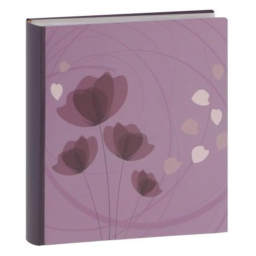"""pochettes avec mémo ERICA """"Ellypse2"""" - 100 pages blanches - 200 photos - Couverture Violette 22,5x37cm"""