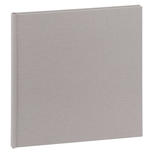 traditionnel - 20 pages blanches - Couverture Tissu Gris 31,2x31,5cm