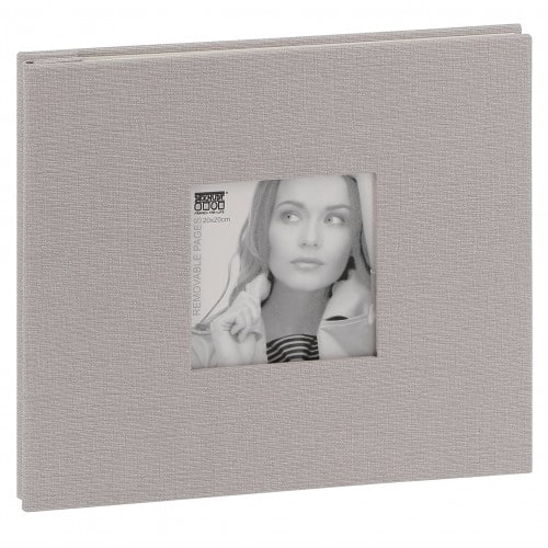Deknudt album tissu gris 20x20cm 20f. amovibles 40 pages (l''unité)