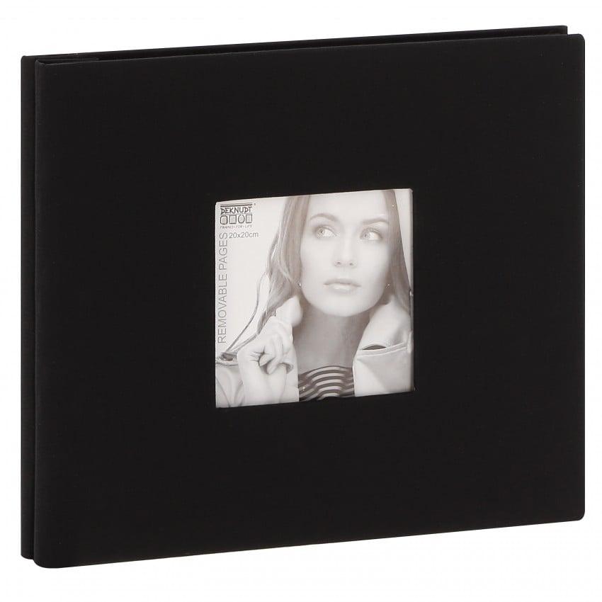 Album photo DEKNUDT 20x20cm - 20 feuilles amovibles Noir