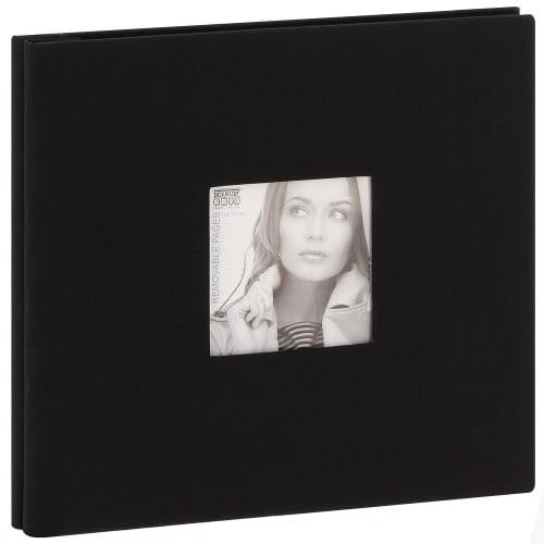 Album photo DEKNUDT 30x30cm - 20 feuilles amovibles Noir