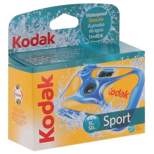 KODAK - Appareil photo jetable Sport 800 iso - 27 poses - Etanche jusqu'à 15 mètres