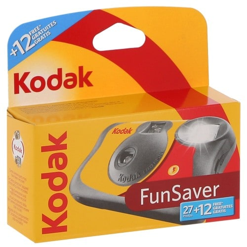 KODAK - Appareil photo jetable Fun Saver Flash 800 iso - 27+12 poses gratuites