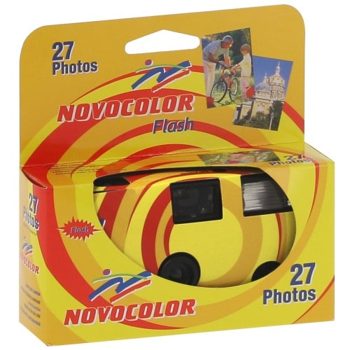 NOVOCOLOR - Appareil photo jetable Shot flash 400 iso - 27 poses
