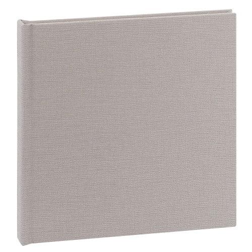 DEKNUDT - Album photo traditionnel - 10 feuilles - 20 pages blanches - Couverture Tissu Gris 21,5x21cm