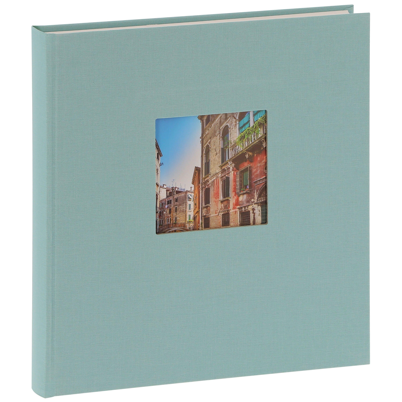 GOLDBUCH - Album photo traditionnel BELLA VISTA - 60 pages blanches + feuillets cristal - 240 photos - Couverture Bleue 29x31cm + fenêtre