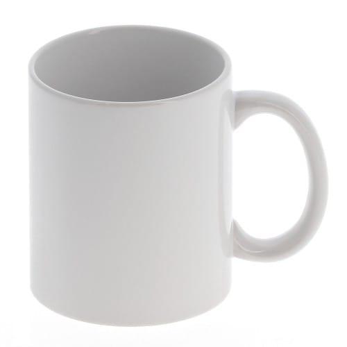 Mug céramique MB TECH 330ml (11oz) blanc - Adapté lave-vaisselle et micro-ondes - Certifié contact alimentaire - Diam. ext. 82mm