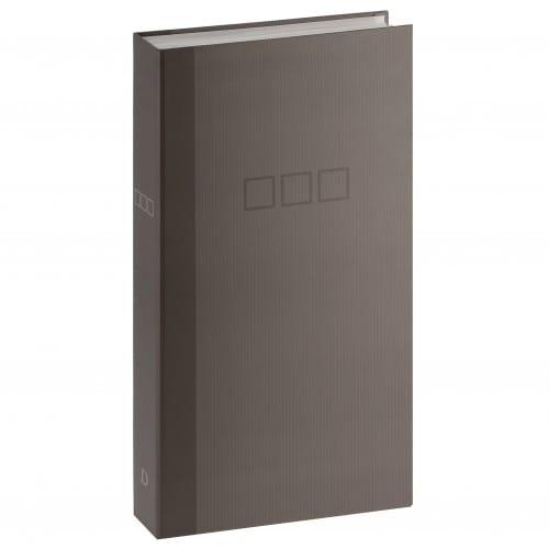 DEKNUDT - Album photo pochettes sans mémo - 100 pages blanches - 300 photos - Couverture Grise 18,5x33,5cm