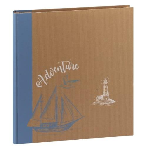 ERICA - Album photo pochettes avec mémo KRAFTTY - 100 pages kraft - 500 photos - Couverture Bleue clair 33,8x37cm