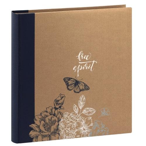 ERICA - Album photo pochettes avec mémo KRAFTTY - 100 pages kraft - 500 photos - Couverture Bleue 33,8x37cm