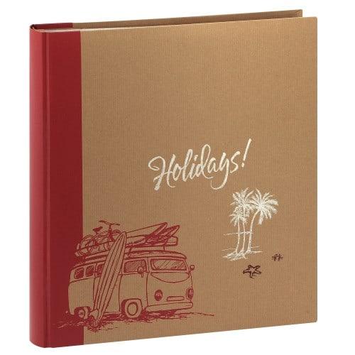 ERICA - Album photo pochettes avec mémo KRAFTTY - 100 pages kraft - 500 photos - Couverture Rouge 33,8x37cm