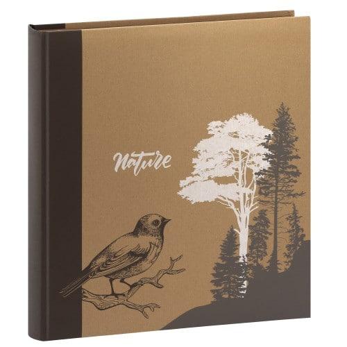 ERICA - Album photo pochettes avec mémo KRAFTTY - 100 pages kraft - 500 photos - Couverture Marron 33,8x37cm