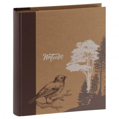 mémo fantaisie série ''Kraftty'' 200 photos 11,5x15cm - Brun - Pochettes couverture rigide