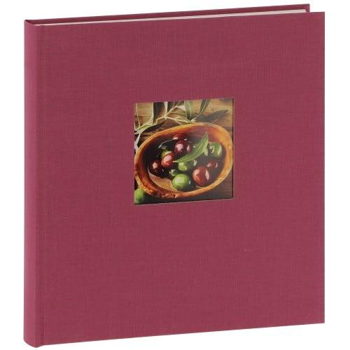 série BELLA VISTA Traditionnel en Lin - 30x31cm 60 pages blanches - Couverture personnalisable (Fushia)