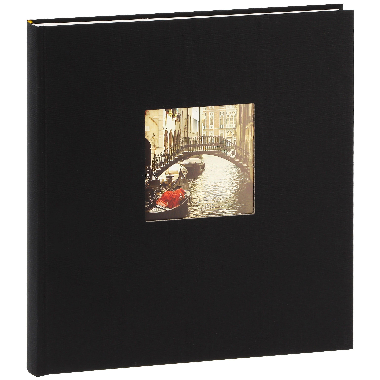 GOLDBUCH - Album photo traditionnel BELLA VISTA - 60 pages blanches + feuillets cristal - 240 photos - Couverture Noire 29x31cm + fenêtre