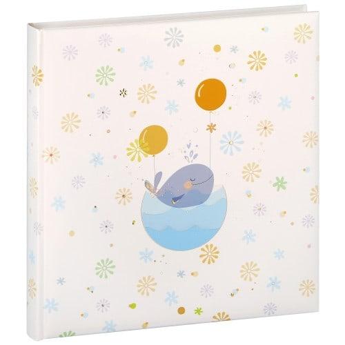 GOLDBUCH - Album photo traditionnel LITTLE WHALE BLUE - 30 pages blanches + feuillets cristal + 4 pages illustrées - 120 photos - Couverture 30x31cm
