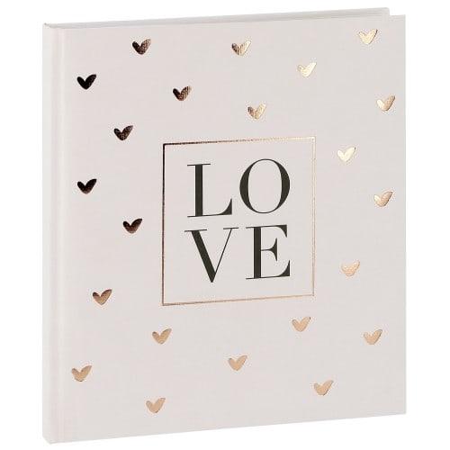 GOLDBUCH - Livre d'or LOVE - 88 pages blanches - Couverture 22x25cm