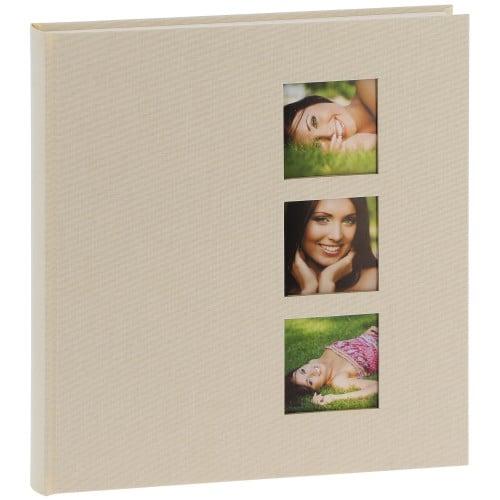 GOLDBUCH - Album photo traditionnel STYLE - 60 pages blanches + feuillets cristal - 240 photos - Couverture Beige 29x31cm + 3 fenêtres