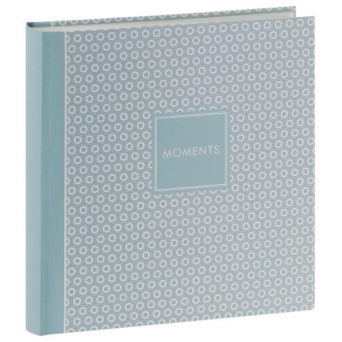 traditionnel PURE MOMENTS - 100 pages blanches + feuillets cristal - 400 photos - Couverture Bleue 30x31cm