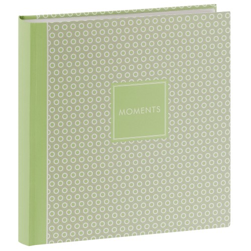 GOLDBUCH - Album photo traditionnel PURE MOMENTS - 100 pages blanches + feuillets cristal - 400 photos - Couverture Verte 30x31cm