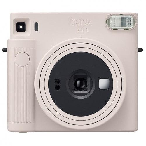 FUJI - Appareil photo instantané Instax Square SQ1 Blanc Craie - Format photo 62x62mm - Livré avec 2 piles lithium CR2/DL