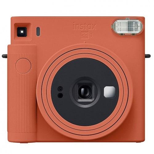 FUJI - Appareil photo instantané Instax Square SQ1 Orange Terracotta - Format photo 62x62mm - Livré avec 2 piles lithium CR2/DL