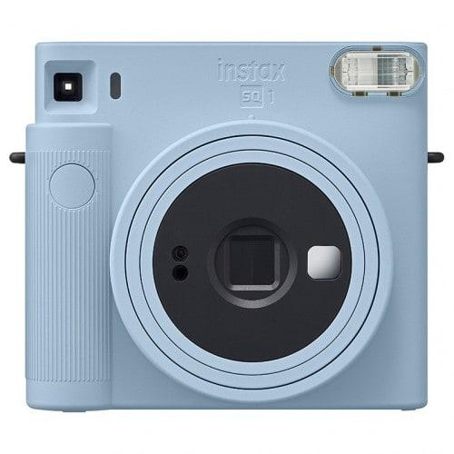 FUJI - Appareil photo instantané Instax Square SQ1 Bleu Glacier - Format photo 62x62mm - Livré avec 2 piles lithium CR2/DL