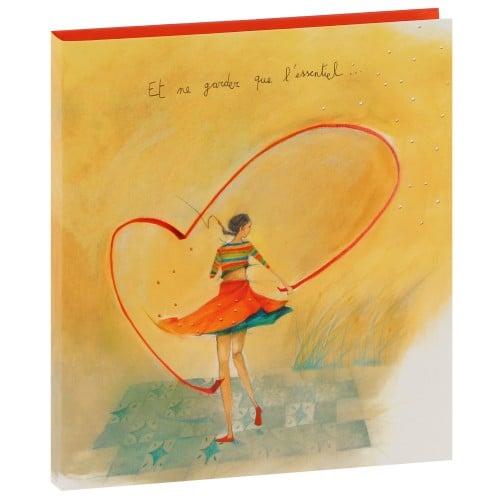 """série ARTISTES 21,8x24,5cm - Pochettes 100 photos 11,5x15 - 2 vues par page 50 pages ivoires """"Coeur"""""""