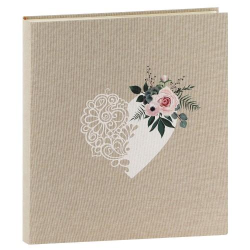 PANODIA - Album photo traditionnel Mariage BOHEME - 100 pages blanches + feuillets cristal - 500 photos - Couverture Beige 33x37,5cm