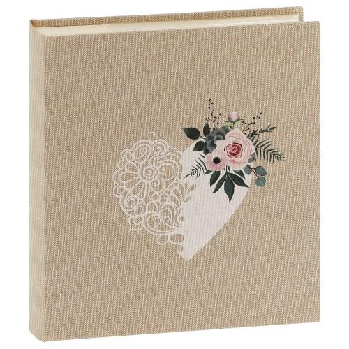 PANODIA - Album photo pochettes avec mémo Mariage BOHEME - 100 pages blanches - 200 photos - Couverture Beige 22x24,5cm